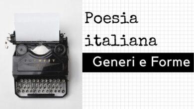 Photo of Generi e forme della poesia italiana
