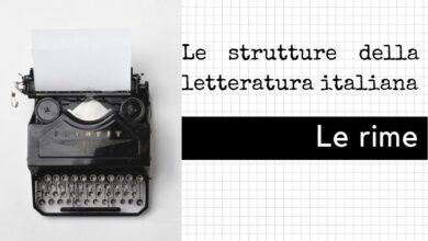 Photo of Le rime della letteratura italiana