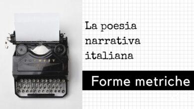 Photo of Forme metriche della poesia narrativa